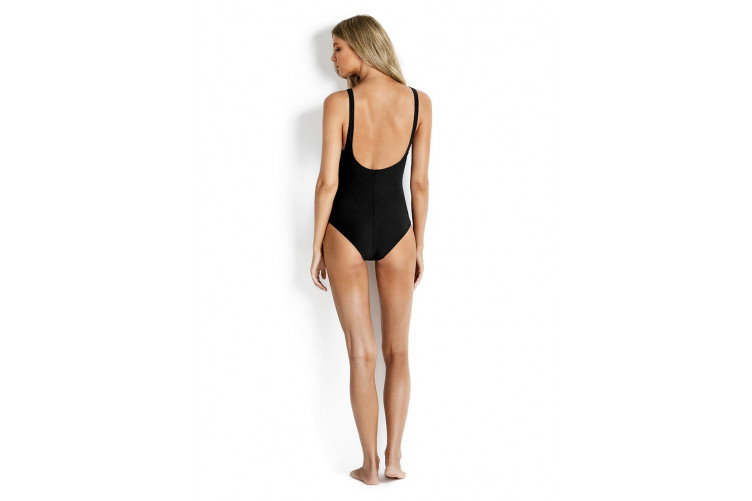 Seafolly Sweetheart One Piece Maillot Svartur
