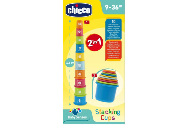 Chicco kubbar m númerum 2in1