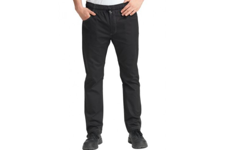 Kokkabuxur slim fit svartar small