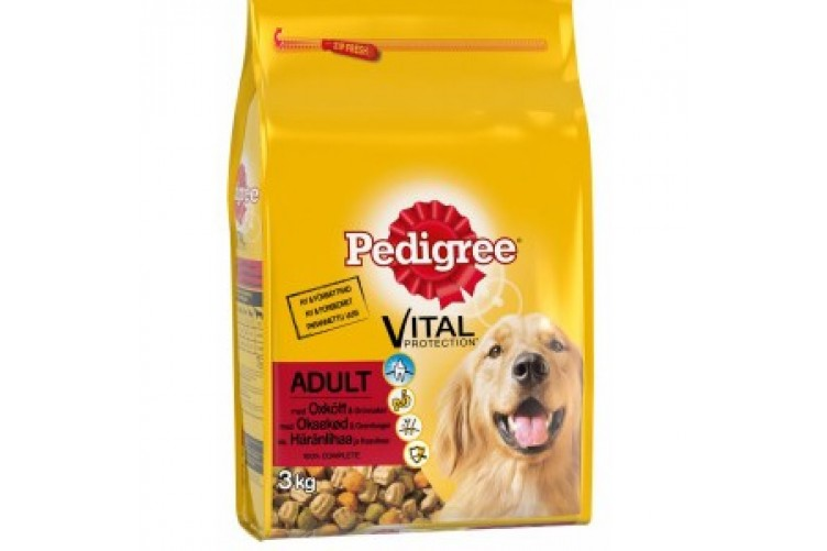 Pedigree 3kg Adult Nautakjöt
