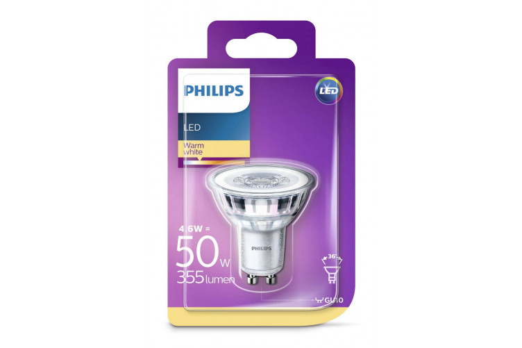 Phil.LED 50W Gu10 ww 230V 36d ódimmanleg