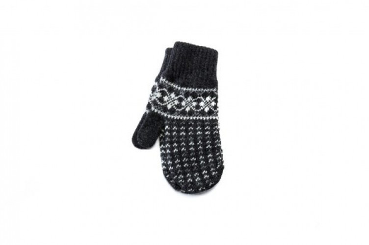 Patterned wool mittens