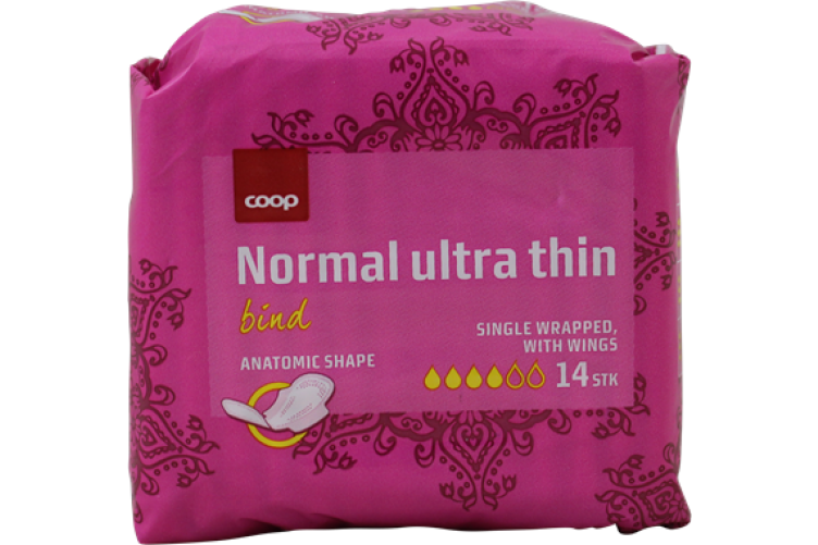 Coop dömubindi ultra normal 14s