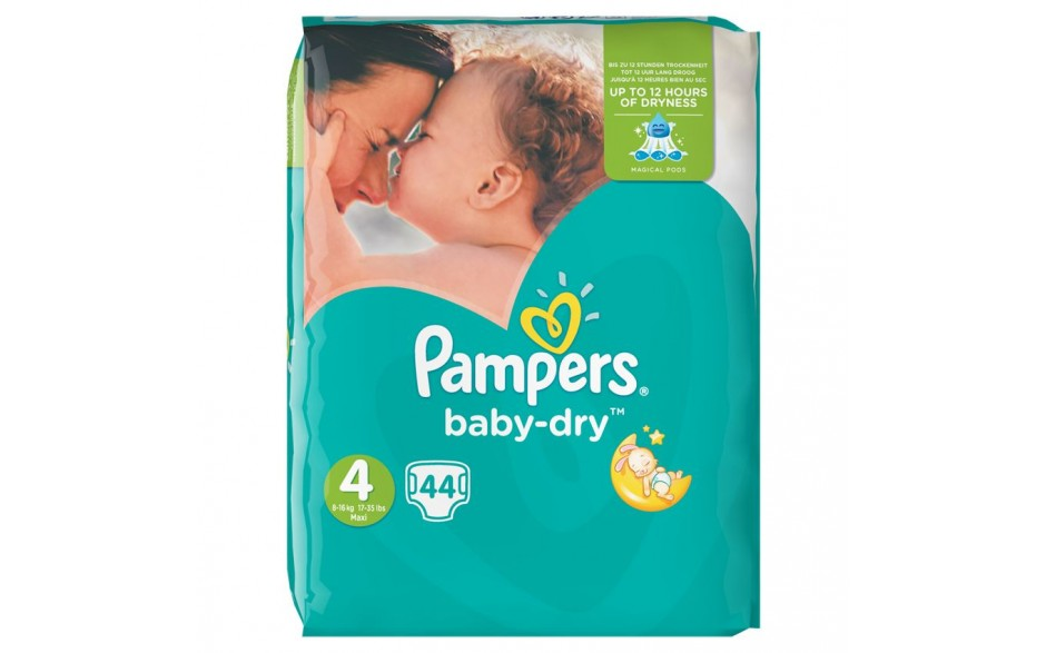 Pampers Baby Dry S4 Maxi+ 9-20kg 33stk