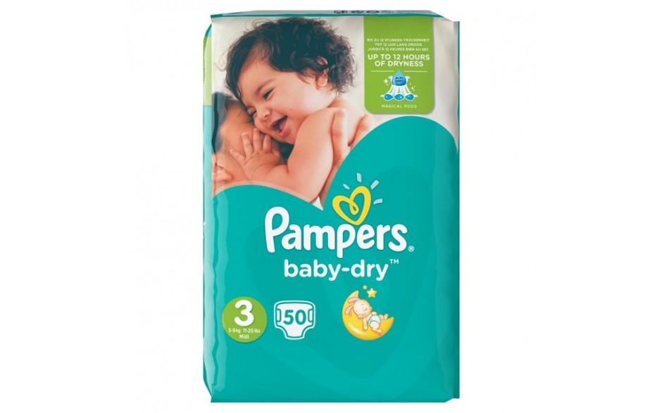 Pampers Baby Dry S3 Midi 5-9 50 stk