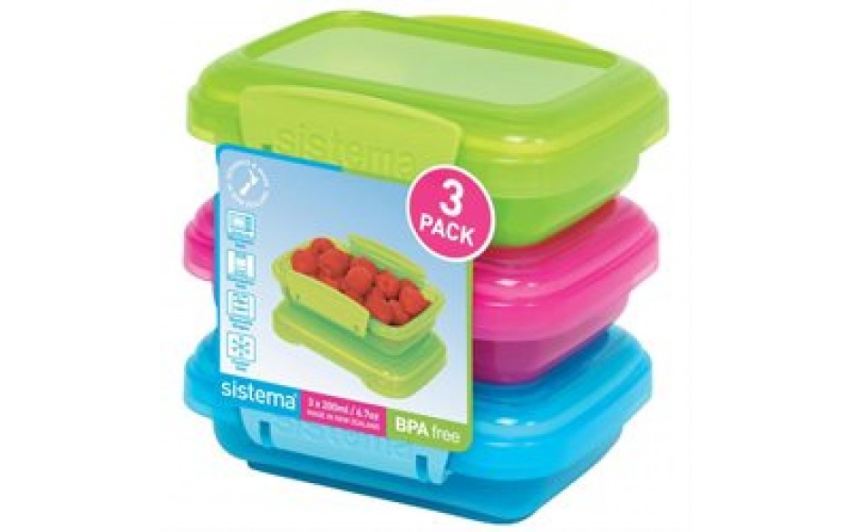Sistema Plastbox lituð 200ml 3pk