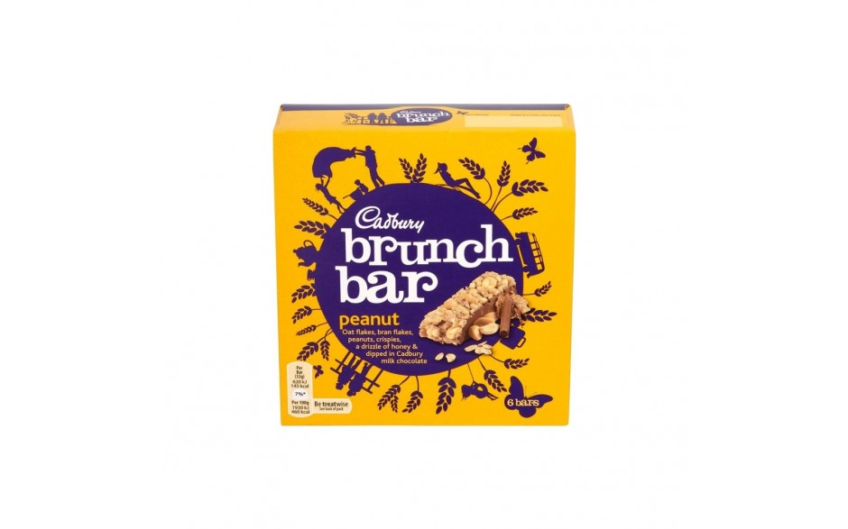 Cadbury Brunch Peanut 6stk 210g