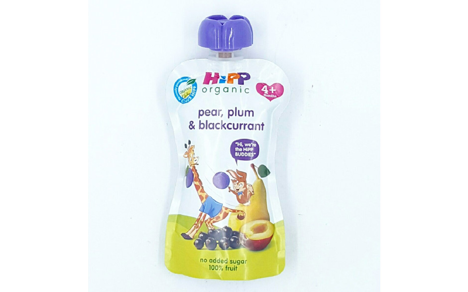 Hipp Skvísa plum blackcurr&pear 100g