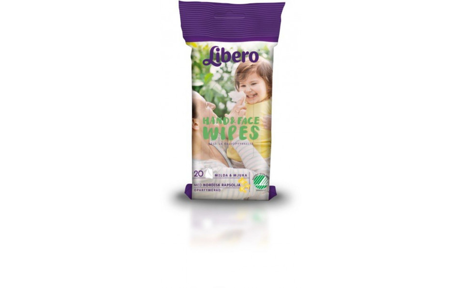 Libero Hand&Face wipes 20stk