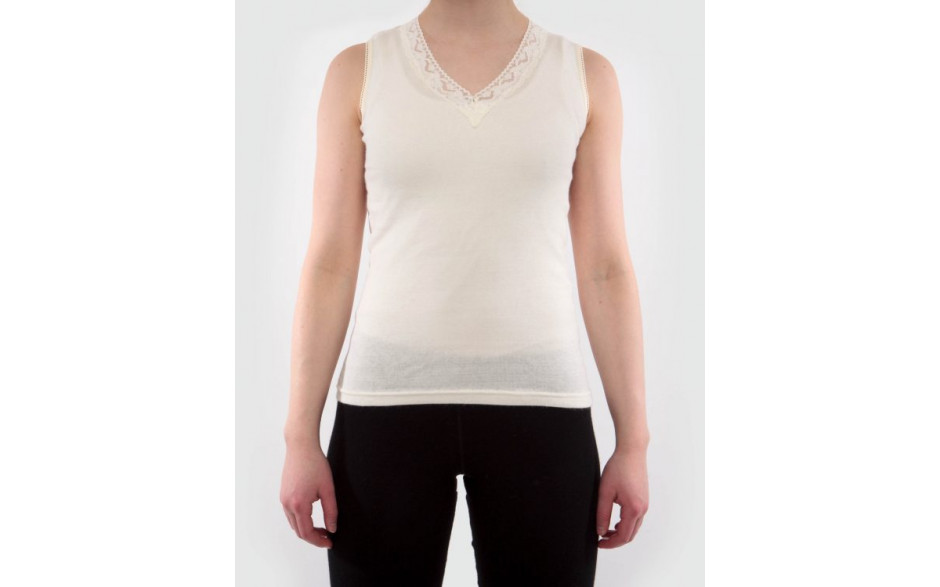 Women sleeveless undershirt with lace