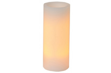 Wax candle 25cm B/O with timer, white