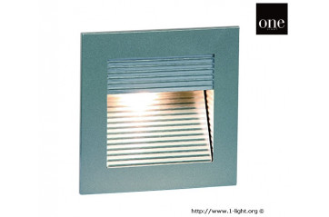 One Light GREY WALL RECESSED WARMW IP20