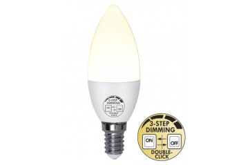 LED Pera E14 5W Built in dimmer 3 step