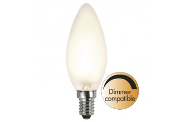 Illumination LED Frosted filament bulb E14 2700K 320lm Dimmer comp.