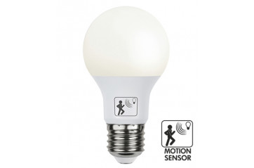 Illumination LED Opal lamp with twilight and motion sensor E27 2700K 806lm