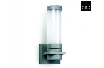 One Light Grey Wall Bracket 15W E27