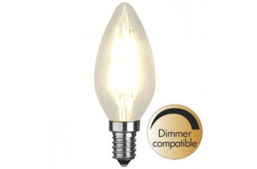 Illumination LED Clear filament bulb E14 2700K 420lm Dimmer comp.