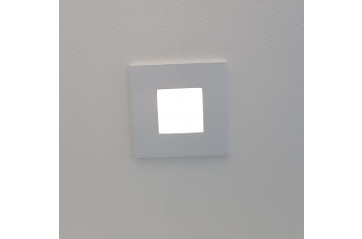 One Light WHITE WALL RECESSED 1W LED WARMW 220-240V