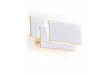 Clover Square LED Wall White