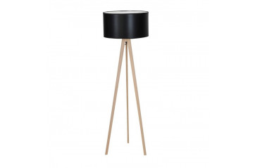 Tripod Wood Black Floor lamp