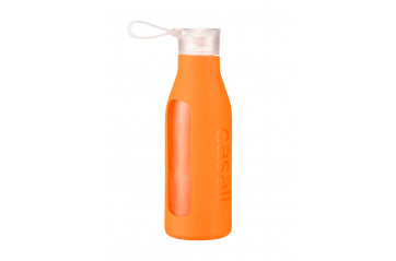 Casall Eco Glass Bottle 0,6L Soft Orange