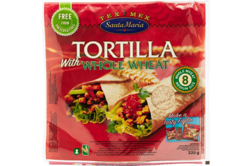 Santa Maria Tortilla Whole Wheat 8pk 320g