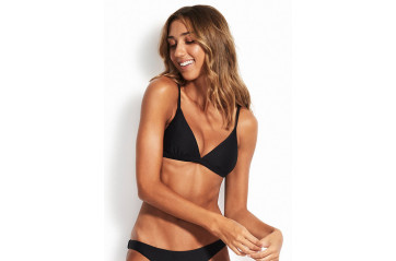 Seafolly Active Fixed Tri Bra Bikini Toppur Black