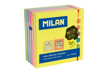 Post it MILAN kubbur 76x76 bl.litir 400bl