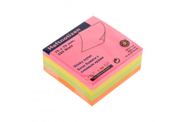 Post it 75x75mm kubbur 320bl neon mix