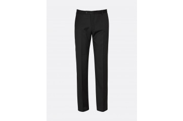 Wool Stretch Suit Trouser - Black