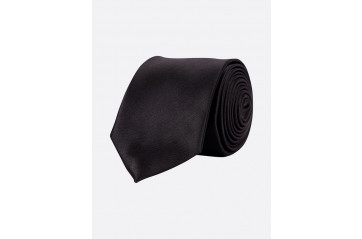 Poly Tie Solid Black