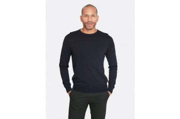 Pima Cotton Sweater Navy