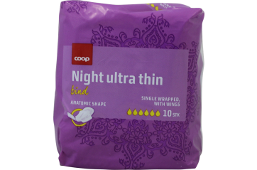 Coop dömubindi ultra night 10s
