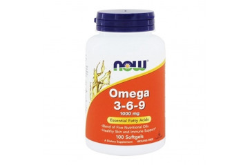 Now Omega 3-6-9 1000mg 100 hylki