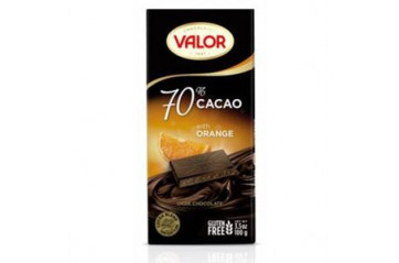 Valor Súkkulaði P.70% Orange 100g