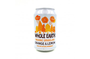 Whole Earth Gos Orange/Lemon 330ml