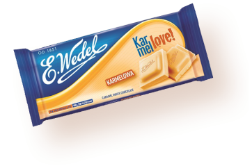 Caramel white chocolate 100g