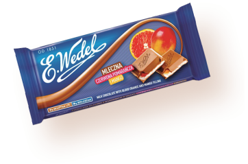 Pólsk Milk chocolate with orane/mango 100g