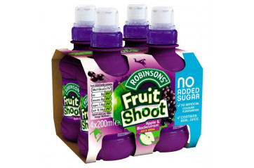 Fruit Shoot 4pk Epla/sólberja 200ml