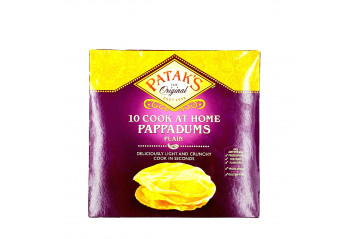 Pataks Pappadums Plain 6in1 100g.