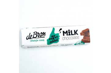 De Bron Chocolate bar Milk Sykurlaust 42g.