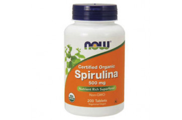 Now Spírulina 500mg 200 töflur