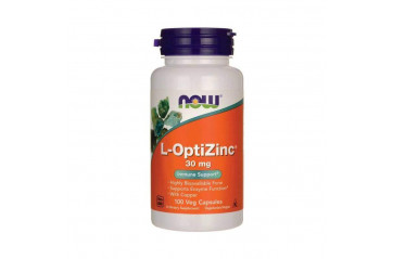 Now L-OptiZinc 30mg 100 hylki