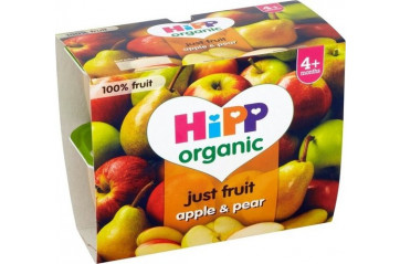 Hipp Fpots Apple & Pear 4x100g