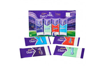 Cadb.Dairy milk selection box premier league 455g