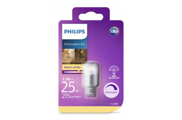 Phil.LED 25W G9 ww 230v dimmanleg