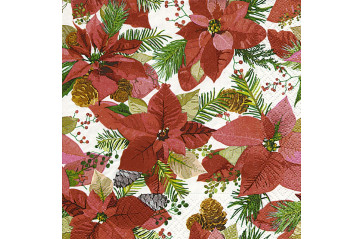 Serv. Shiny poinsettia 25x25 (12)