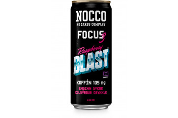 Nocco BCAA Focus3 Raspberry 33cl