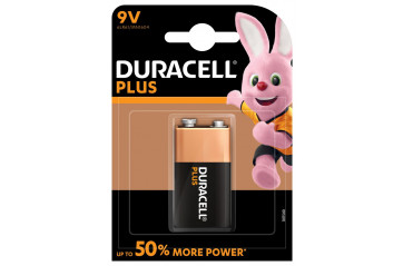 Duracell Plus Power 9v Kubbur 1stk