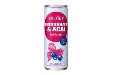 Celsius Bringebær/Acaii 355ml